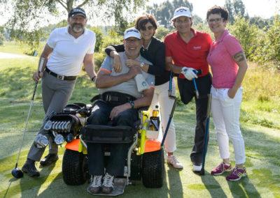 Thomas Frey und Elke Kürbisch bei den Deutsche Meisterschaften der Golfer mit Behinderung 2016 in Abenberg.