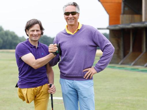 Mit meinem Golftrainer Mario Majchszak.