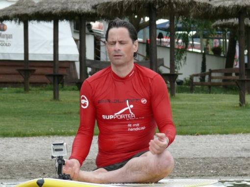 Meditieren auf dem Board.