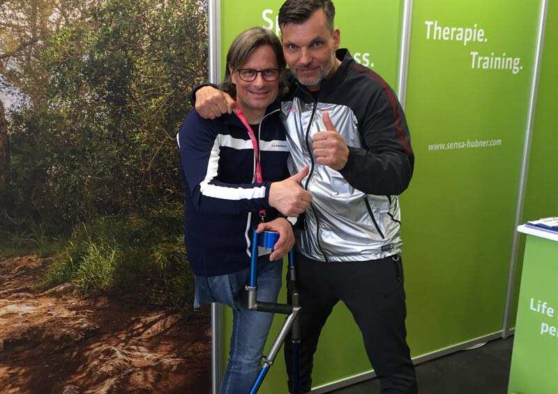 Thomas Frey auf der FIBO 2016 mit Karsten Schellenberg.