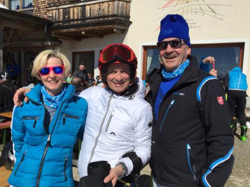 Skifahren mit Marlies und Alfred Richter.