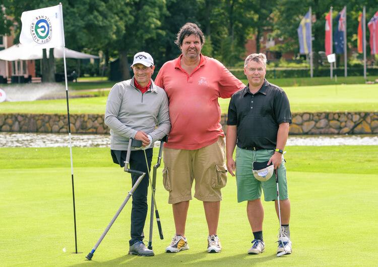 Thomas Frey bei den Internationalen Deutschen Meisterschaften der Golfer mit Behinderung 2017. Mit Detlef Freise und Karsten Andree verlief der 2. Turniertag ganz ordentlich.