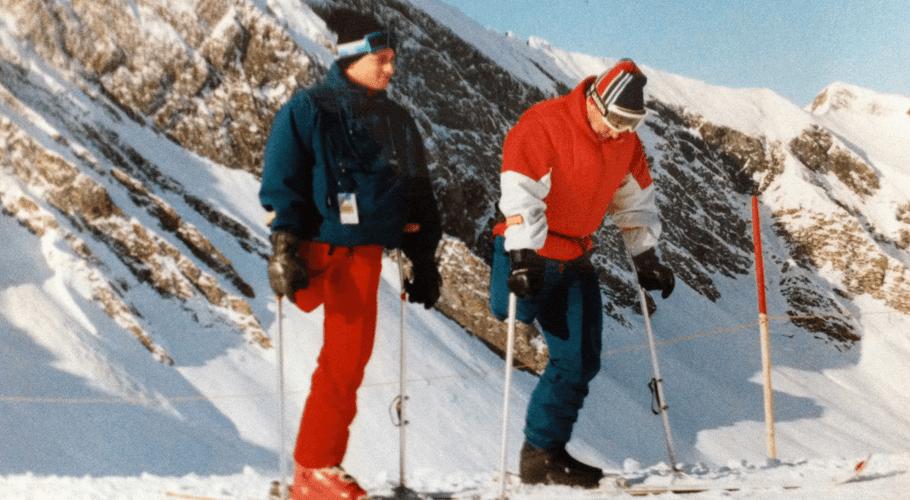 Thomas Frey und sein Mentor Erwin Keth